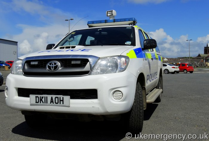 Dk11 Aoh Port Of Liverpool Police Toyota Hilux This Is Uk