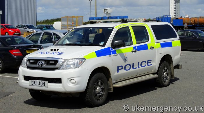 Dk11 Aoh Port Of Liverpool Police Toyota Hilux This Is