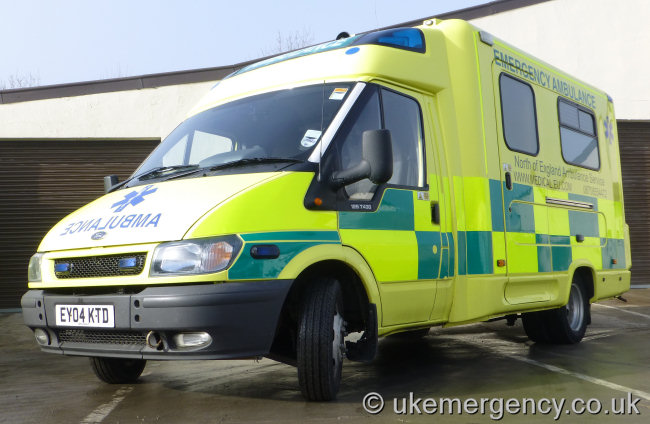 Ey04 Ktd This Ford Transit Ambulance Is Run By The