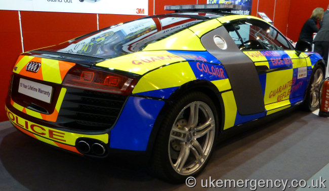 This Police Audi R8 Has Been Daubed With Pink Graffiti Thankfully