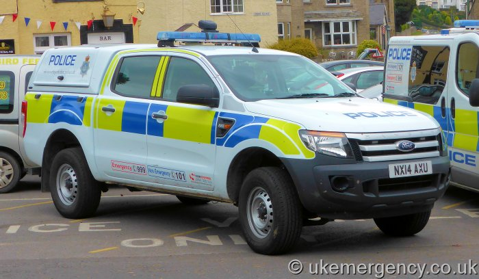 Nx14 Axu North Yorkshire Police Ford Ranger Uk Emergency