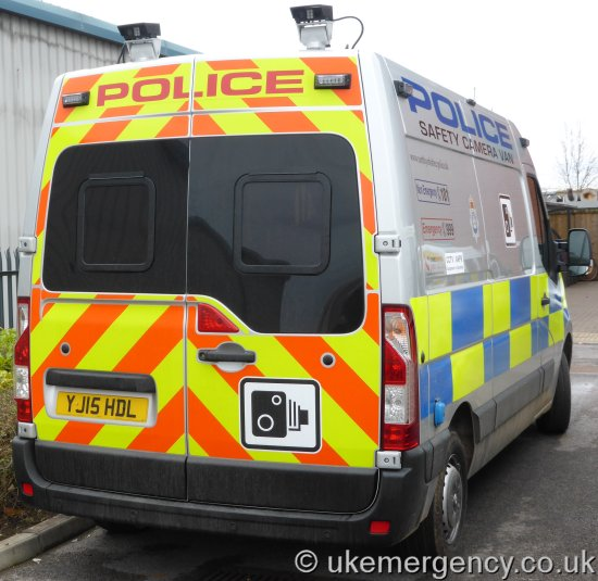 1454a06a5f YJ15 HDL North Yorkshire Police Vauxhall Vivaro safety camera van. The  units are also fitted with ANPR cameras that record the registrations of  all passing ...