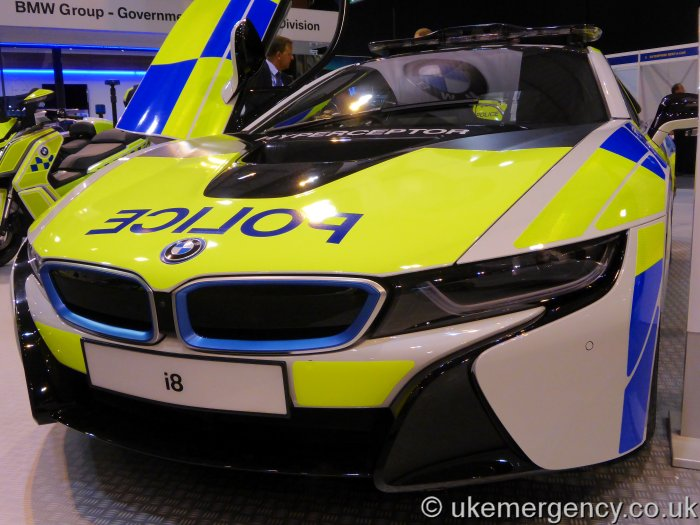 A Police Bmw I8 Promotional Vehicle Uk Emergency Vehicles