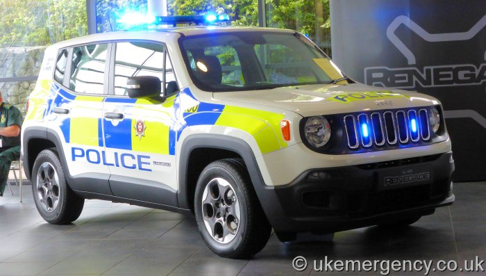 Wiltshire Police Jeep Renegade which was launched in 2015